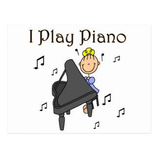Ik speel de T-shirts en de Giften van de Piano Briefkaart