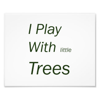 Ik speel met kleine bomen footprint
