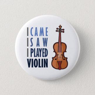 Ik speel Viool Ronde Button 5,7 Cm