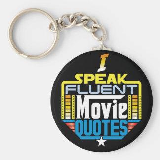 Ik spreek de Vloeiende Citaten Keychain van de Sleutelhanger