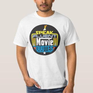 Ik spreek het Vloeiende Overhemd van de Citaten T Shirt