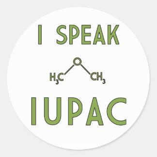 Ik spreek Sticker IUPAC