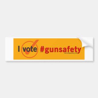 Ik stem over de Veiligheid van het Pistool Bumpersticker