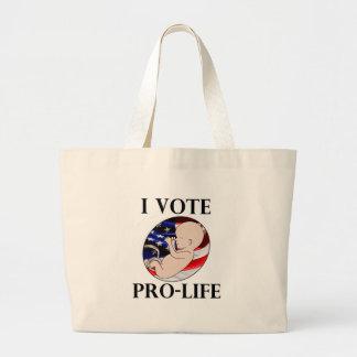 Ik stem over het pro-Leven Grote Draagtas