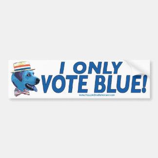 Ik stem slechts over de Blauwe Sticker van de Bump