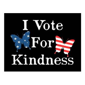Ik stem voor Vriendelijkheid Briefkaart