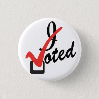 Ik stemde ronde button 3,2 cm