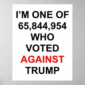 Ik stemde tegen het poster van de Troef