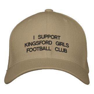 IK STEUN DE CLUB VAN HET FOOTBALL VAN MEISJES KING BASEBALL CAP