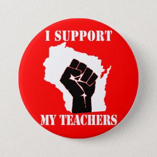 Ik steun Mijn Leraren Ronde Button 7,6 Cm