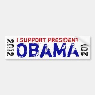 Ik steun President Obama 2012 Bumpersticker