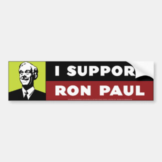 Ik steun Ron Paul - Neon Bumpersticker