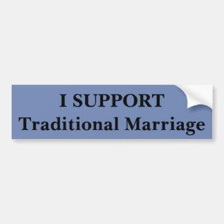 Ik steun Traditioneel Huwelijk Bumpersticker