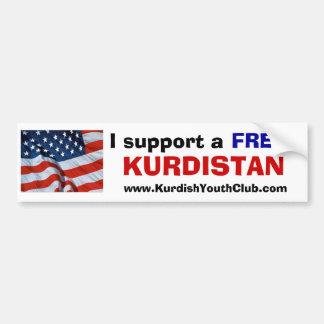 Ik steun vrij Koerdistan de V.S. Bumpersticker