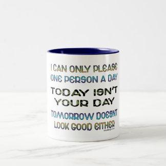 Ik te kunnen slechts gelieve Één Persoon een Dag Tweekleurige Koffiemok