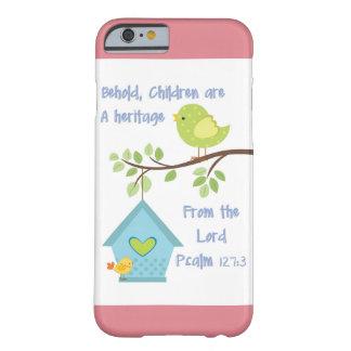 Ik telefoneer Dekking 6 met Psalm 127 3 van het Barely There iPhone 6 Hoesje