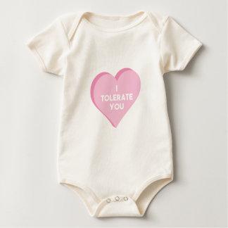 Ik tolereer u baby shirt