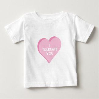 Ik tolereer u baby t shirts