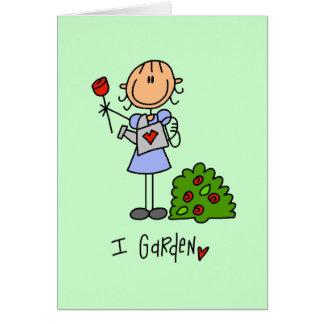 Ik tuinier T-shirts en Giften Wenskaart