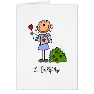 Ik tuinier wenskaart