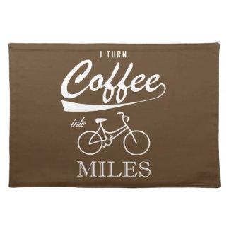 Ik verander Koffie in Mijlen Placemat