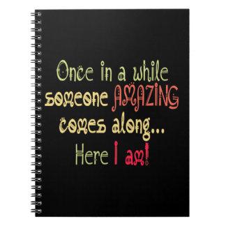 Ik verbaas Grappig Motivatie Citaat Notitieboek