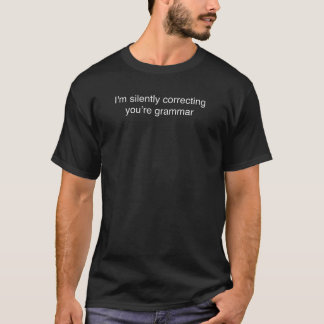 Ik verbeter stil uw grammatica - Grappig T-shirt