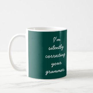 Ik verbeter stil uw grammatica koffiemok