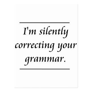 Ik verbeter stil uw grammatica. .png briefkaart