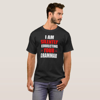 Ik verbeter stil Uw Grammatica T Shirt