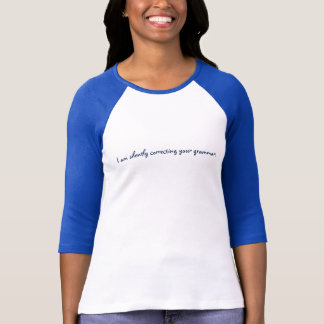 """ik verbeter stil uw grammatica"" T-shirt"