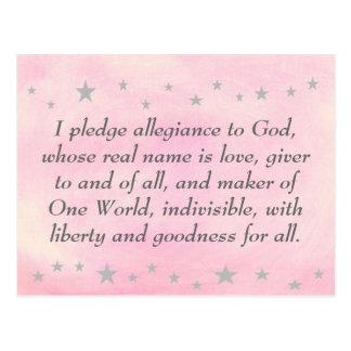Ik verbind trouw aan God, briefkaart ertoe