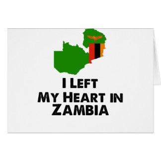 Ik verliet Mijn Hart in Zambia Kaart