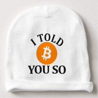 Ik vertelde u zo Bitcoin Baby Mutsje
