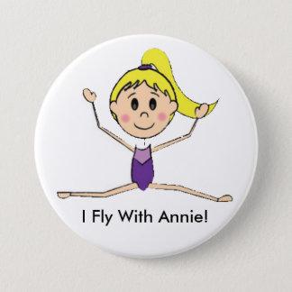 Ik vlieg de Knoop met van Annie (Twinpossible) Ronde Button 7,6 Cm