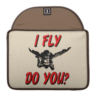 Ik vlieg, u? (blk) MacBook pro beschermhoes