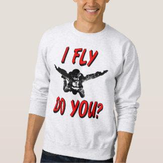 Ik vlieg, u? (blk) trui