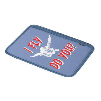 Ik vlieg, u? (wht) beschermhoes voor MacBook air