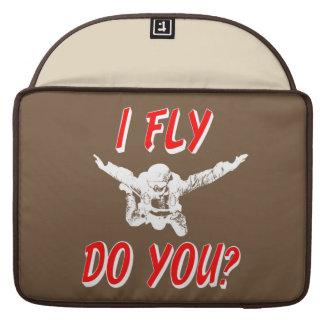 Ik vlieg, u? (wht) sleeve voor MacBooks