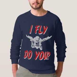 Ik vlieg, u? (wht) sweater