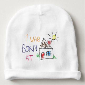 """""""ik was het geboren thuis"""" Katoenen van het Baby Baby Mutsje"""
