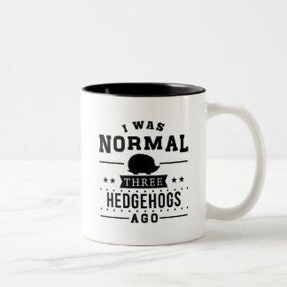 Ik was Normaal Drie Egels geleden Tweekleurige Koffiemok