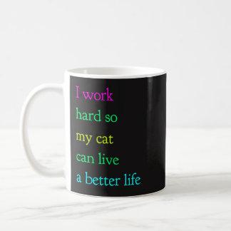 Ik werk Hard zodat Mijn Kat kan leven een Betere Koffiemok