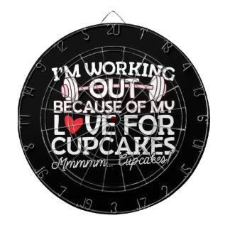 Ik werk wegens mijn Liefde voor Cupcakes uit Dartbord