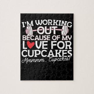 Ik werk wegens mijn Liefde voor Cupcakes uit Legpuzzel