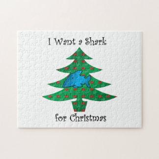 Ik wil een haai voor Kerstmis Legpuzzel