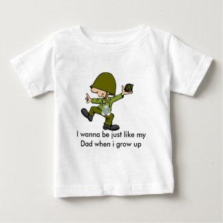 Ik wil enkel als mijn Papa zijn wanneer I g… Baby T Shirts