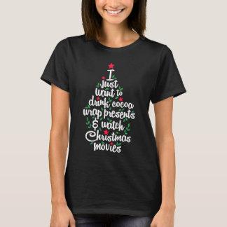 Ik wil enkel Film | drink van Kerstmis van het T Shirt