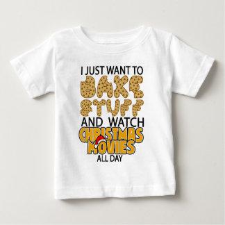 ik wil enkel materiaal en horlogeKerstmisbeweging Baby T Shirts