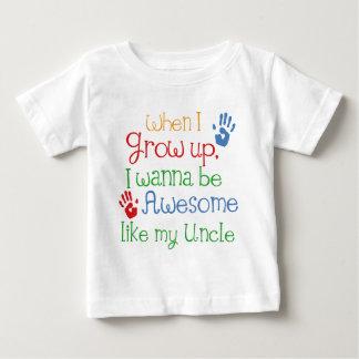 Ik wil Geweldige als Mijn Oom zijn Baby T Shirts